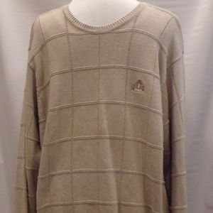 Izod Big Men's Tan Pull Over Sweater